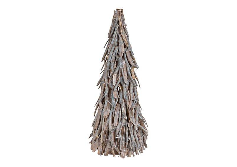 Christmas tree wood silver 30x70x30cm