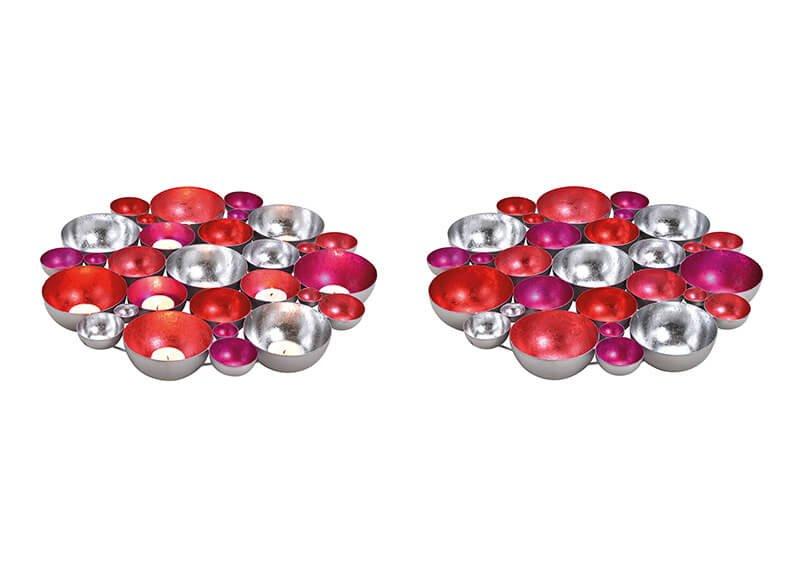 Colourplay bowl metal pink/rose, 40x5x40cm