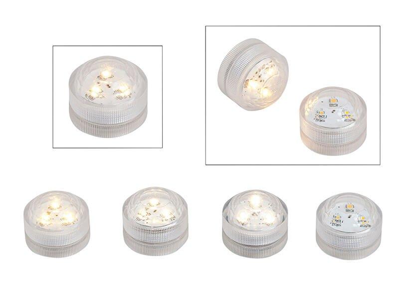 Tealight w.3 led warmwhite 2x3 cm}