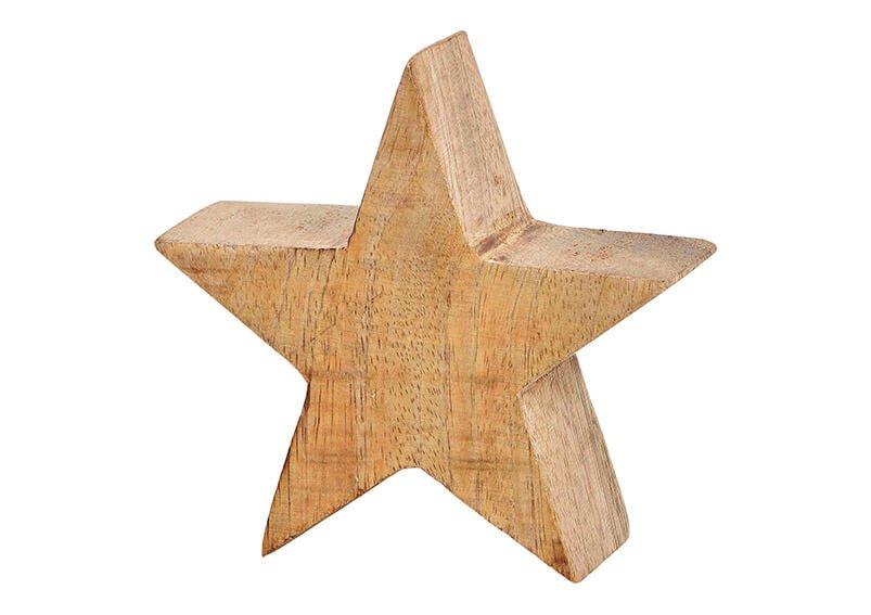 Star mango wood brown, (w/h/d) 10x10x4cm