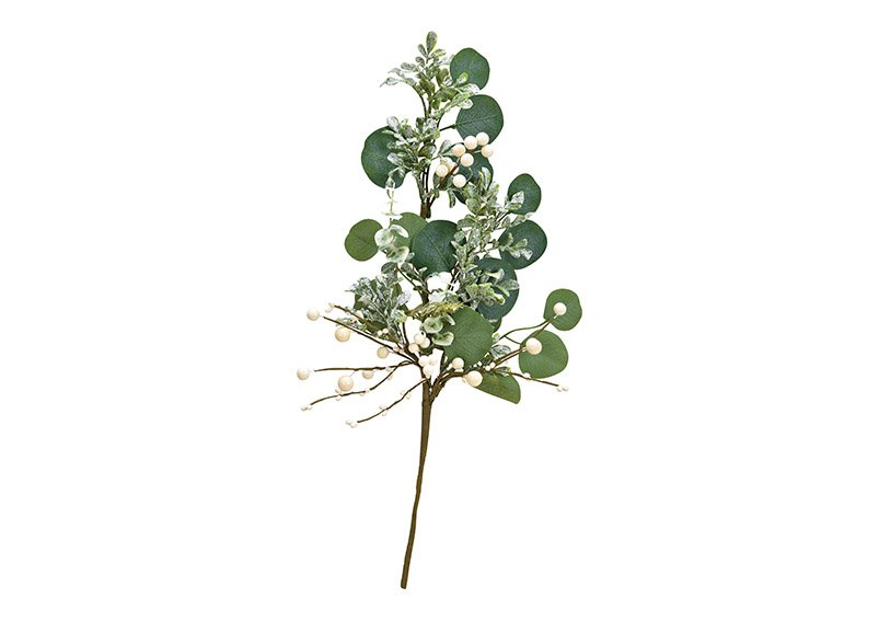 Christmas branch made of plastic green, white (w / h / d) 30x52x5cm