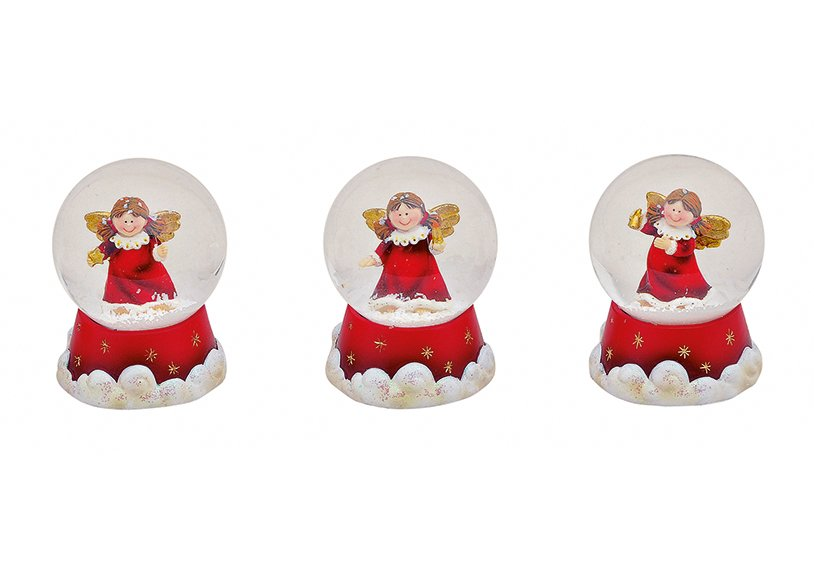 WATERBALL ANGEL POLY 6CM, 3 asst