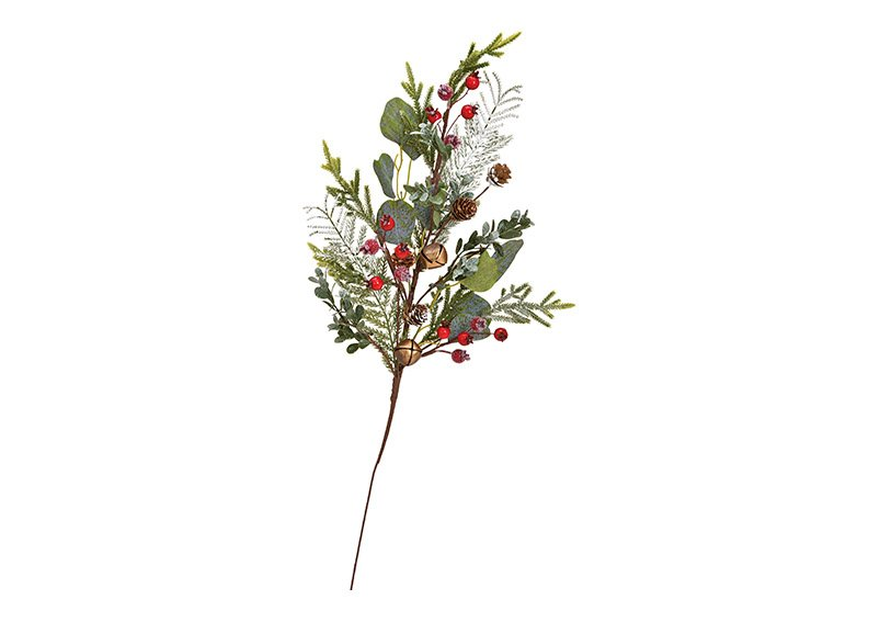 Christmas branch made of plastic green, red (w / h / d) 27x65x5cm