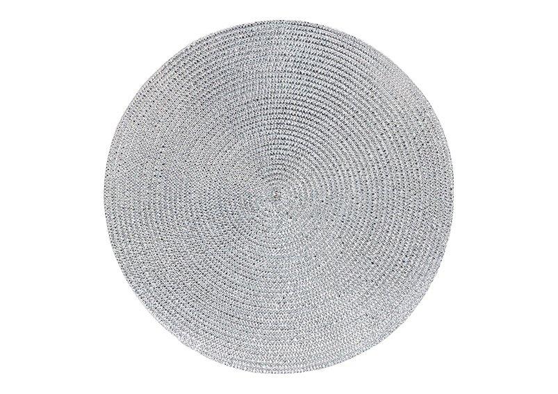 Platzset aus Kunststoff Silber Ø38cm