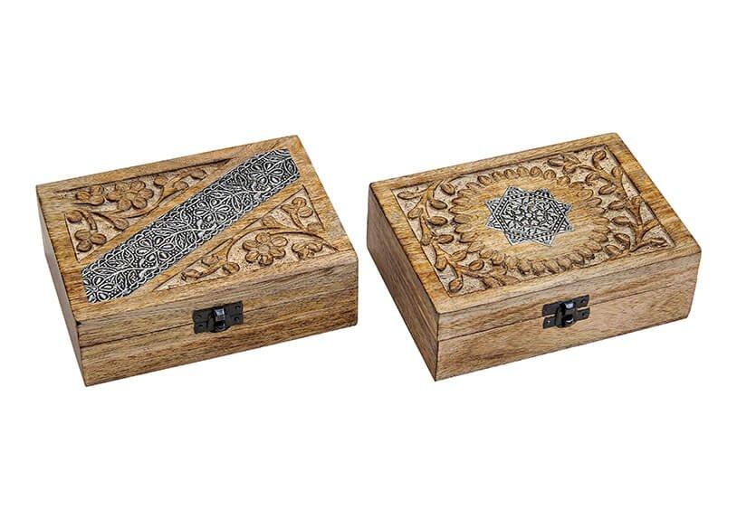 Jewelbox India, 2 assorted, wood, (W/H/D) 17x6x13cm