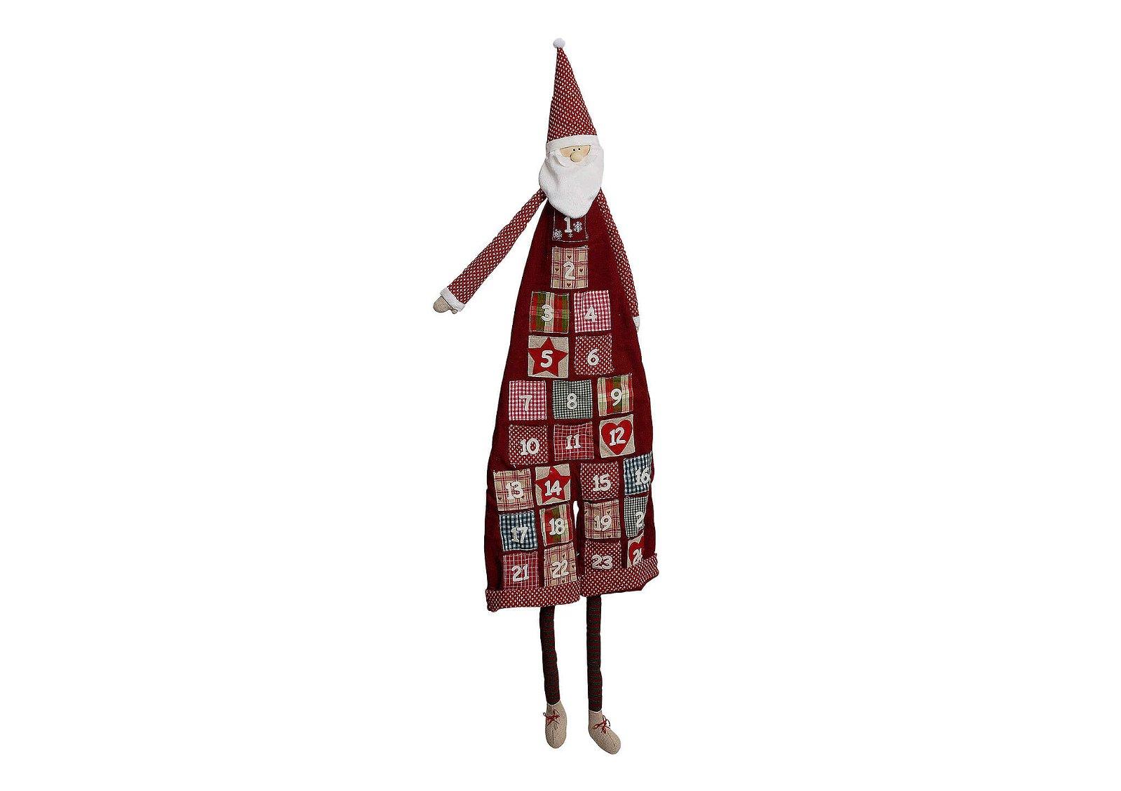 Adventskalender, Nikolaus aus Plüsch und Textil, 120 cm