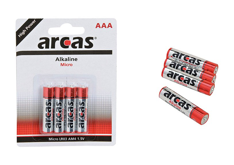 Batterie, 4-teilig, Micro AAA Alkaline