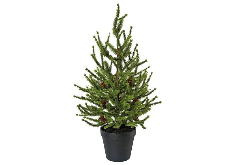 Spruce in a pot, plastic green 55cm
