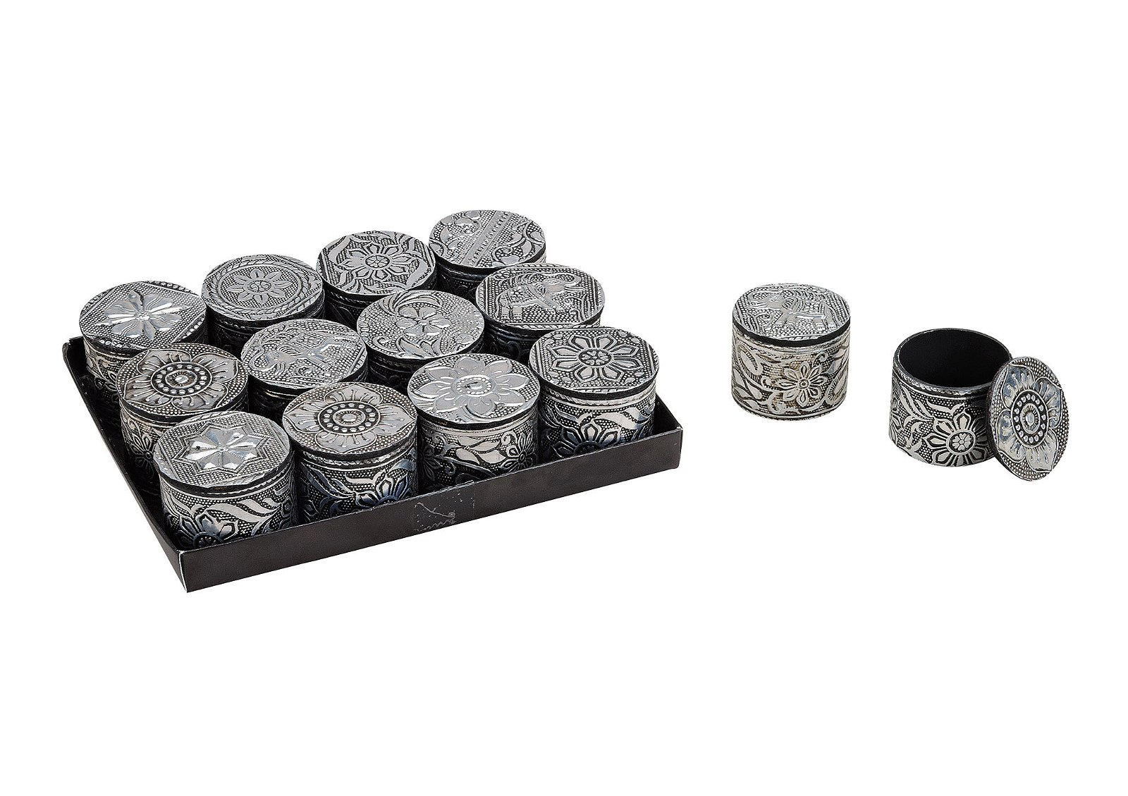 JEWELERY BOX ORIENTAL PLASTIC 12-ASS. 4X5 CM}