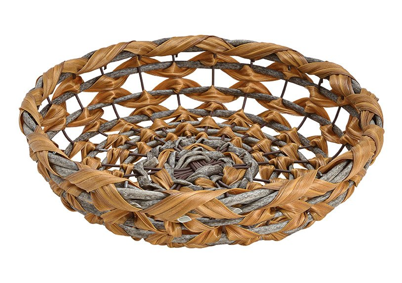 Bowl, basket made of plastic brown (W / H / D) 30x7x30cm