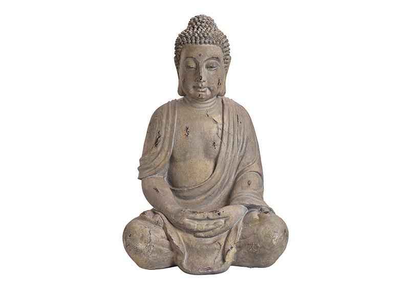 Buddha, magnesium, poly, grey 44x67x35cm