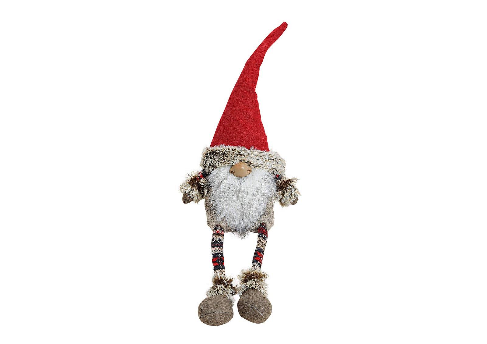 Gnome sitting on border plush/felt 35/58 cm