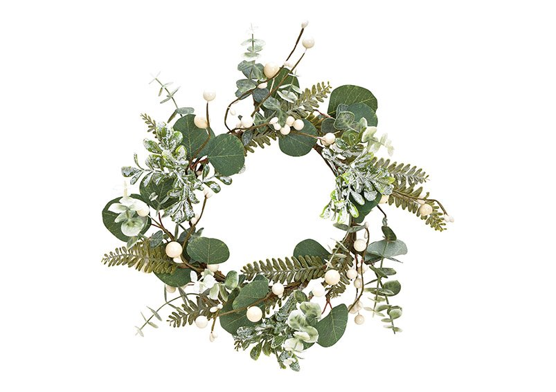 Christmas wreath made of plastic green, white (w / h / d) 30x6x30cm