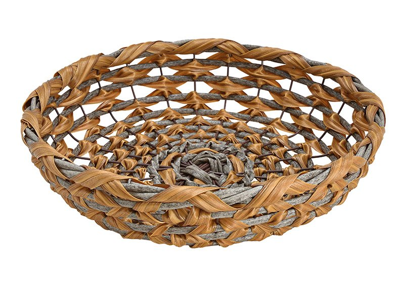 Bowl, basket made of plastic brown (W / H / D) 35x8x35cm