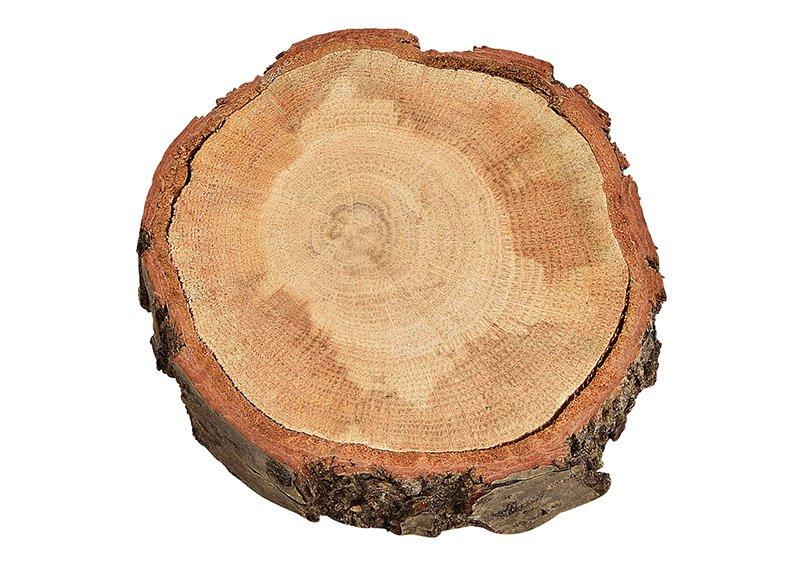 Wooden slice, nature colour, (H) 1cm Ø12-14cm