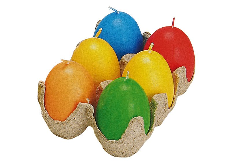Egg candle set, ass., 6 cm