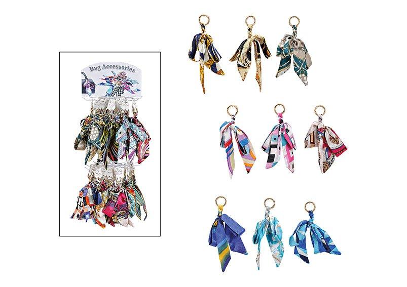 Schlüsselanhänger auf Ständer Halstuch aus Textil Bunt sortiert, (B/H/T) 10x20x2cm
