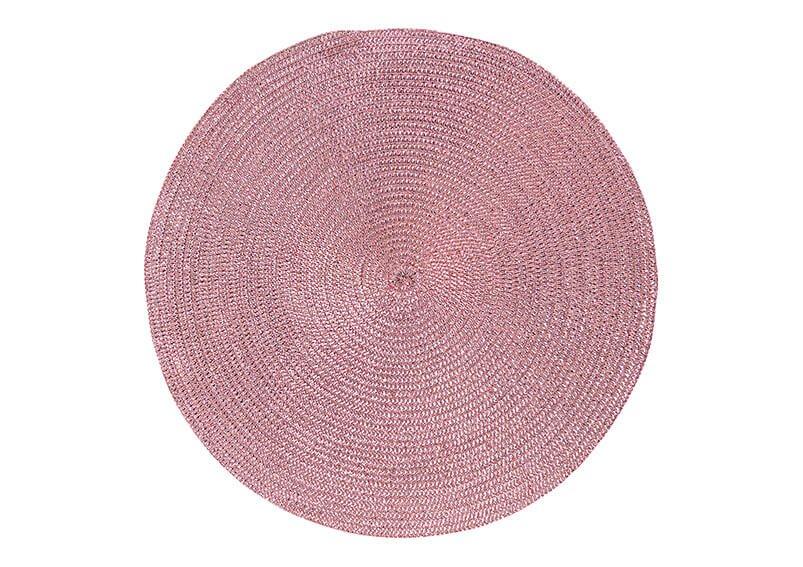 Platzset aus Kunststoff Pink/Rosa  Ø38cm
