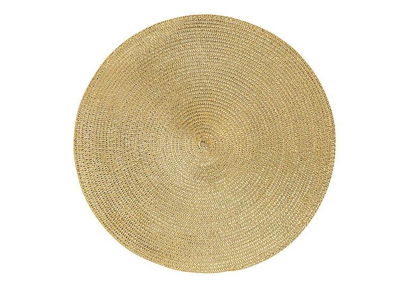 Platzset aus Kunststoff Gold Ø38cm