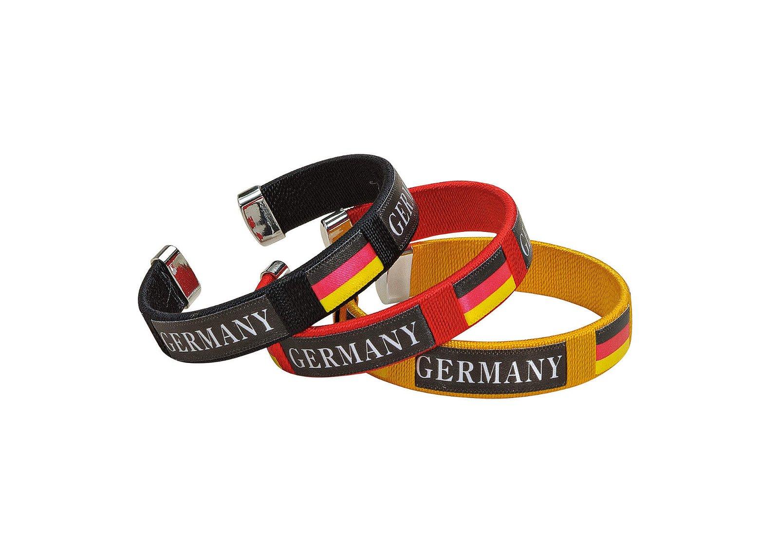 Bracelet germany polyester set black/yellow/red