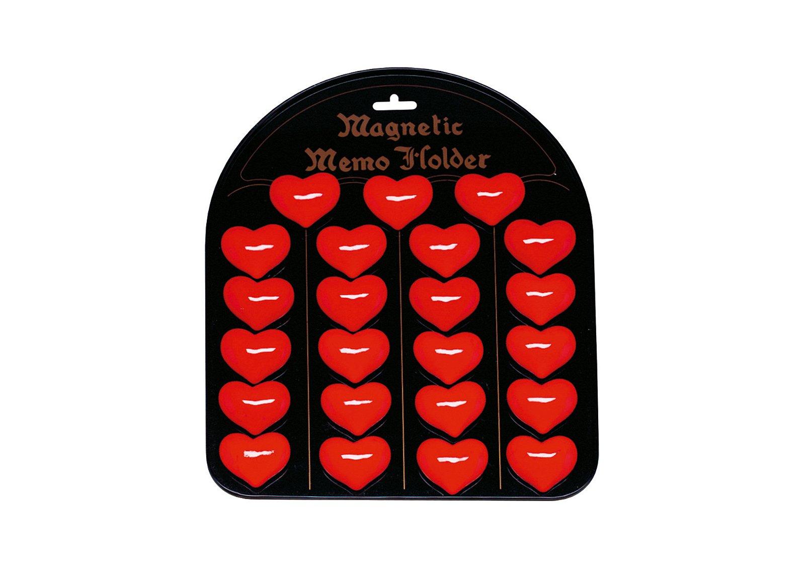 Magnet Motiv Herz aus Kunststoff, (24 Stück auf einer Tafel)
