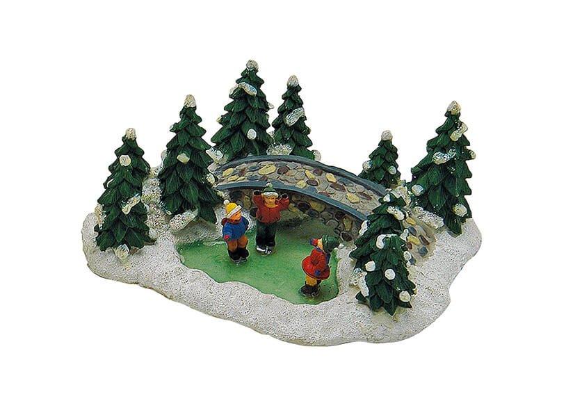 Christmas scene, poly, 16x12x7 cm