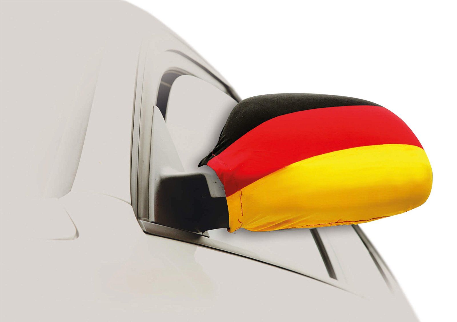 """CAR OUTSIDE MIRROR FLAG DOUBLE SET""""GERMANY""""POLYESTER 20X15CM"""