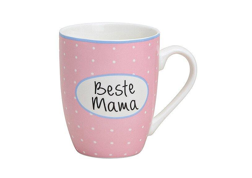 Becher Beste Mama aus Porzellan, 10 cm, 300 ml