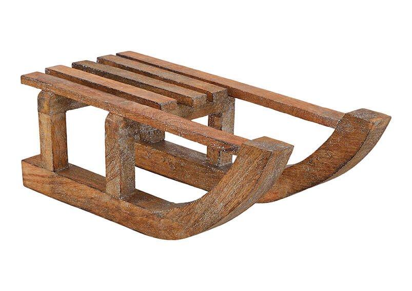 Schlitten aus Mangoholz Braun (B/H/T) 60x21x21cm