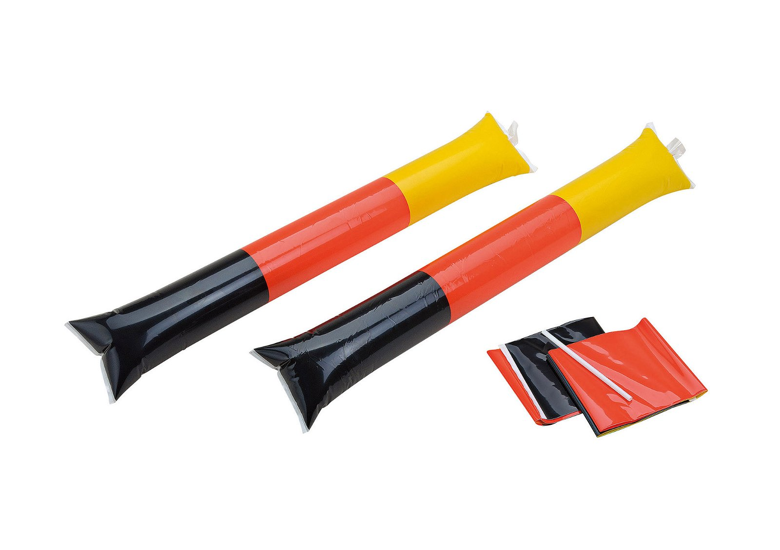 INFLATABLE STICK GERMANY PLASTIC 2-ASS. 10X60 CM
