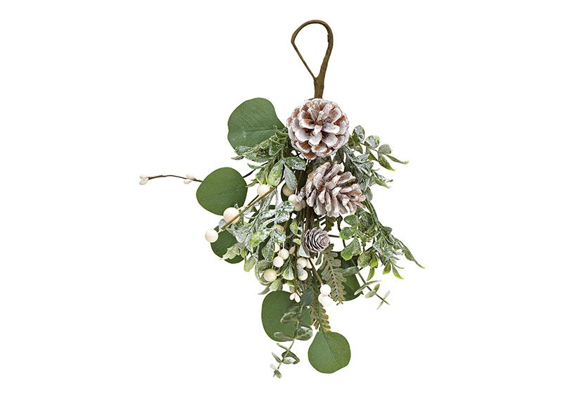 Christmas branch made of plastic green, white (w / h / d) 18x30x7cm