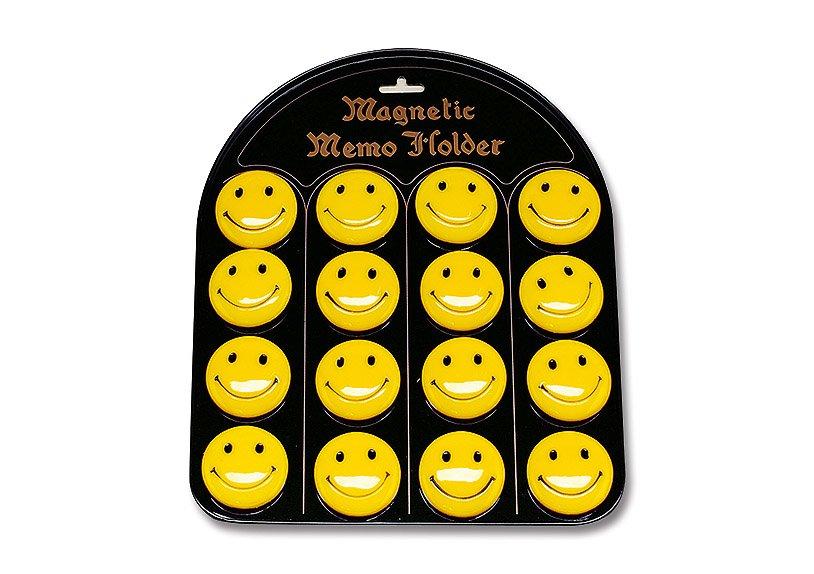 Magnet Motiv Smiley aus Kunststoff, (16 Stück auf einer Tafel)