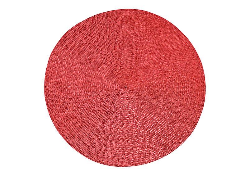 Platzset aus Kunststoff Rot Ø38cm