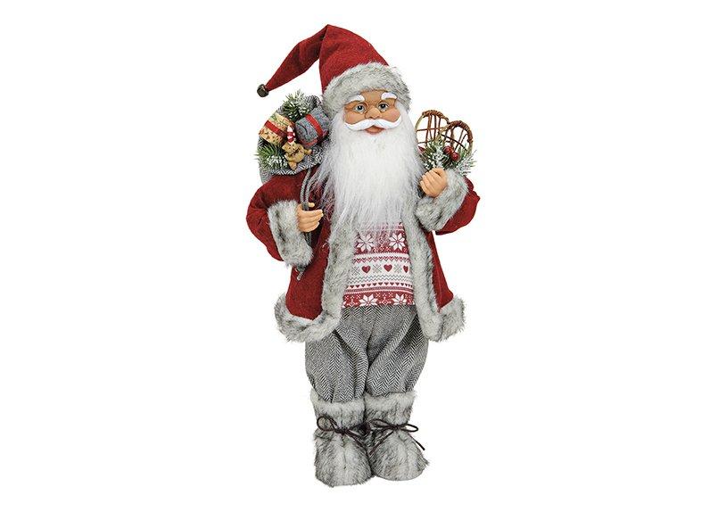 Santa red  plastic/textil 46cm