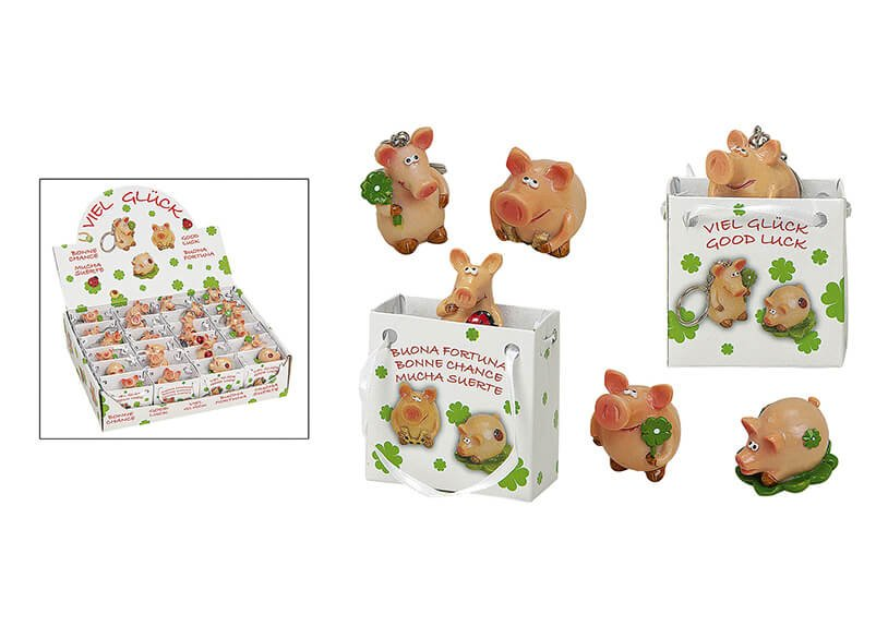 Lucky pig poly in bag 3-4cm