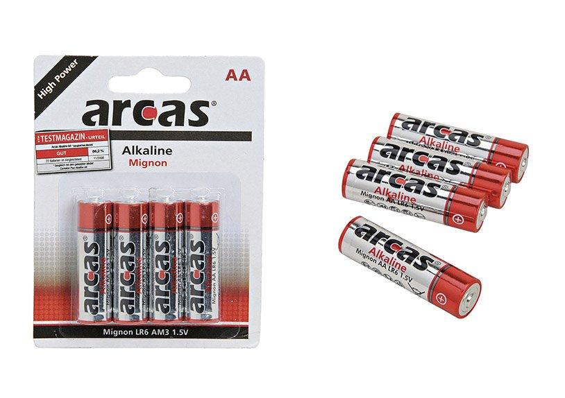 Batterie, Mignon, AA, 4-teilig, Alkaline, LR6, 1,5V