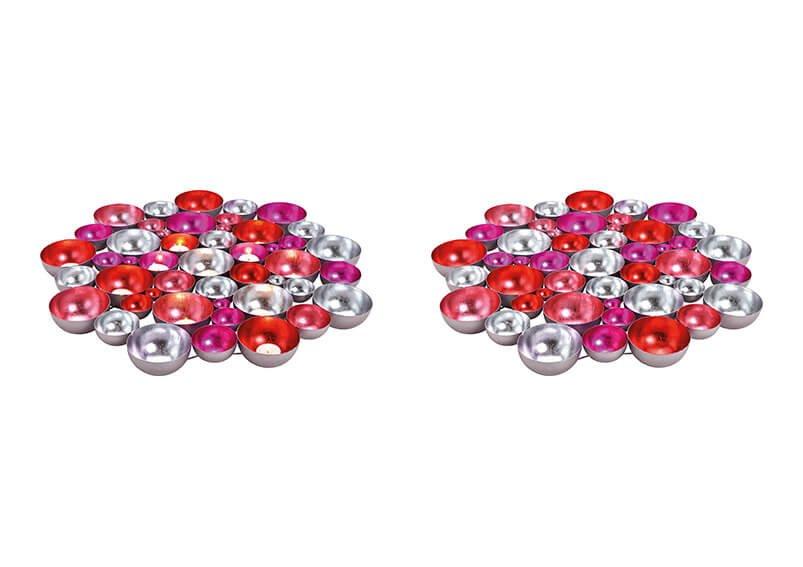 Colourplay  bowl metal pink/rose, 60x60x5cm