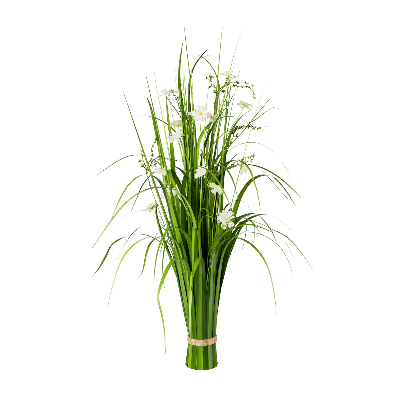 Gras bush with cosmea green and white, plastic 86cm h